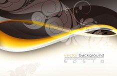 Vector Trendy Abstract Background with Wavy Curves 08