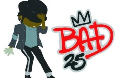 Cartoon MJ BAD 25 Vector Illustration