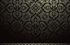 Retro Vintage Floral Swirl Background Vector 03