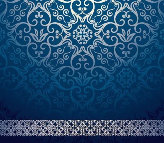 Retro Vintage Floral Swirl Background Vector 05
