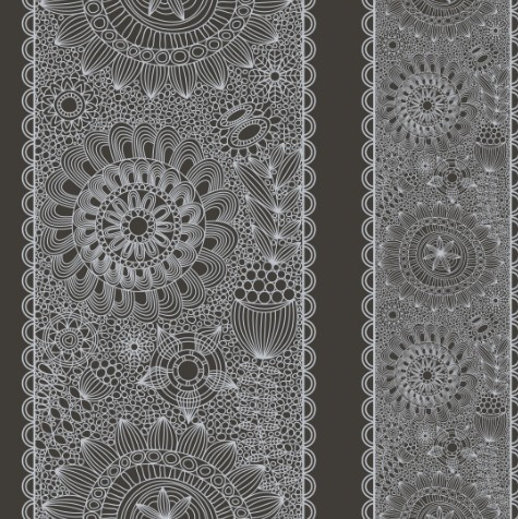 Vintage Floral Pattern Vector Background 02