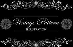 Vintage Floral Pattern Vector Background 05
