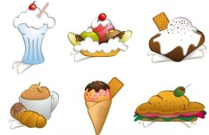 Cartoon Food Vector Illustration