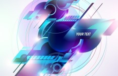 Colorful Abstraction Vector Text Background 01