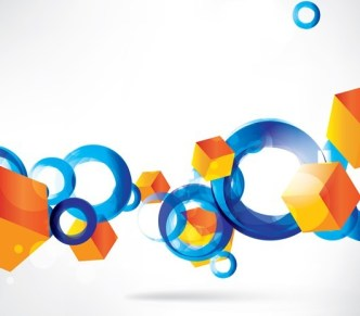 Colorful Abstraction Vector Text Background 03