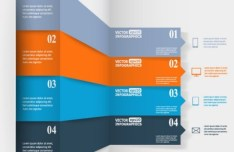 Colorful Vector Infographic Paper Number Labels 06
