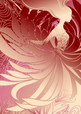 Vector Abstraction Flower Woman 04