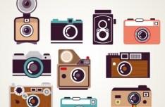 Vector Flat Old Camera Design Elements 03
