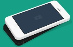 Flat iPhone 5 3D MockUp PSD