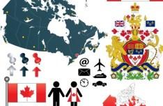 Vector Canada Information Graphic Elements
