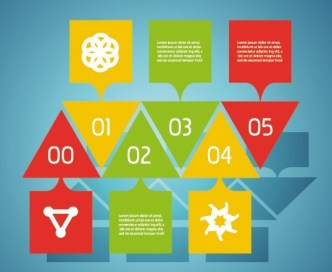 Vector Colorful Inforgraphic Step Circle Elements 04