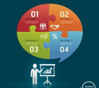 Vector Colorful Inforgraphic Step Circle Elements 06