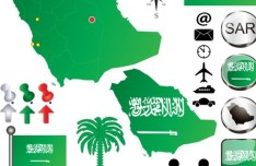 Vector Saudi Arabia Graphic Elements