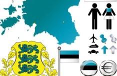 Vector Estonia Information Graphic Elements
