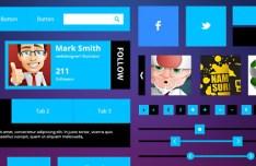 Flat Metro UI Kit PSD