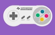 Flat Super Nintendo Controller PSD Template