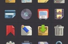 Flat Web Icon Set PSD