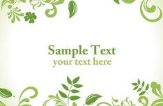 Clean Green Floral Pattern Vector Background