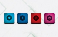 Sleek and Rounded Social Icons PSD