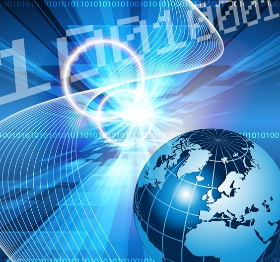 Blue Digital Technology Background Vector 02