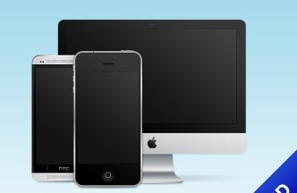 Mobile and Desktop Device PSD Template