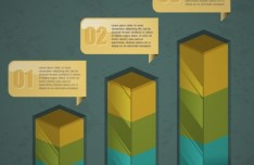 Vector Creative Data Display Elements For Infographic 01
