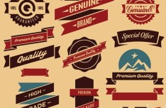 Vector Retro High Quality Label Collection 02