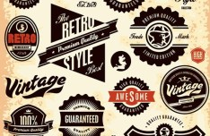 Vector Retro High Quality Label Collection 03