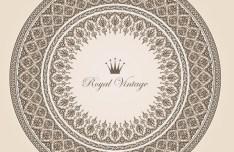 Vector Vintage Royal Floral Design Elements 01