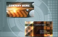 Clean Technology Business Card Design Template Vector 02