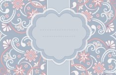 Pink Vintage Floral Pattern Background 01