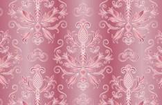 Pink Vintage Floral Pattern Background 04