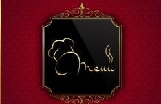 Classical Restaurant Menu Cover Design Vector 02