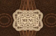 Classical Restaurant Menu Cover Design Vector 03