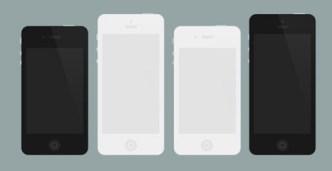 Flat iPhone 4 and iPhone 5 PSD Mockups