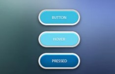 Simple and Clean Rounded Web Buttons PSD