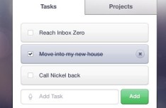 Clean Task List Interface PSD