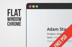 Flat Style Window Chrome PSD