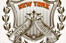 Vector Vintage Badge Sticker 03