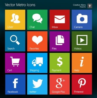 Windows 8 Metro Style PSD Icons