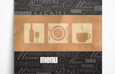 Classical Vector Restaurant Menu Template 03