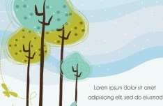 Coloful Hand-painted Plant Vector Illustration 02