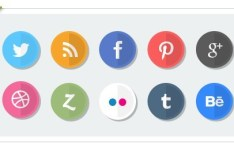 Paper Folding Style Social Media Icons
