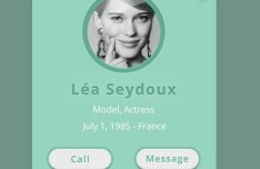 Vintage Call Her Interface PSD