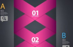 Creative Vector Infographic Labels with Numbers and Letters 03
