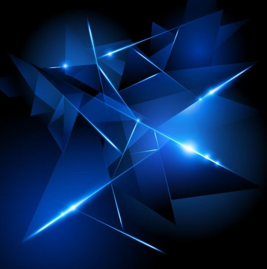 Dark Blue HI-TECH Abstract Background Vector 02