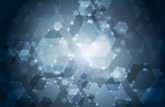 Dark Blue HI-TECH Abstract Background Vector 03