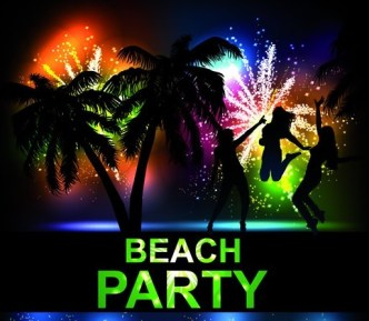 Fashion Beach & Night Party Background Vector 02