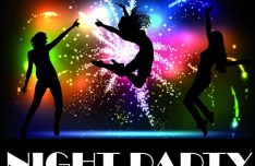 Fashion Beach & Night Party Background Vector 03