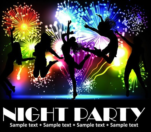 Fashion Beach & Night Party Background Vector 05